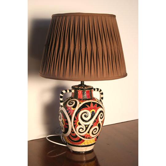 Vintage Lamps. VLL049   Early 20th Century Italian Glazed Ceramic Lamp