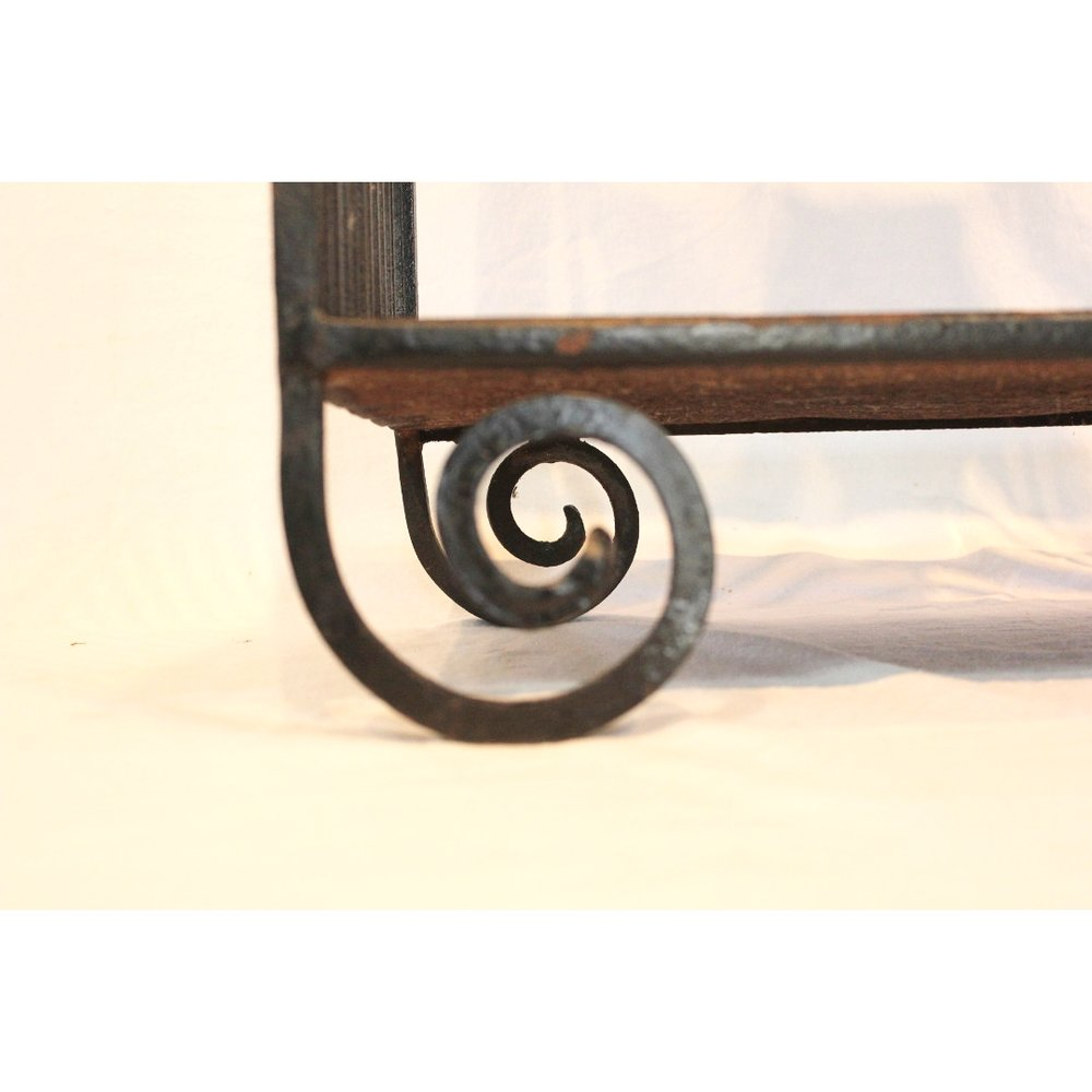 AF167   Early 20th Century European Art Deco Wrought Iron Side Table