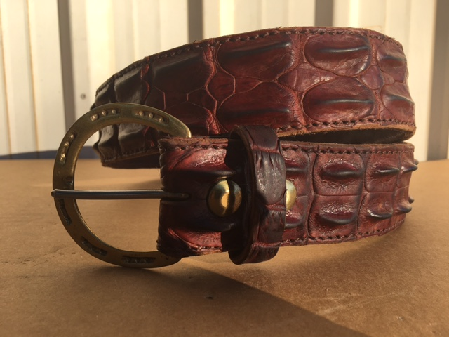 "WE LINE ANY BELT WITH CROCODILE. THIS BELT IS 2 3/4"", FOR EXAMPLE. COST $295 ."
