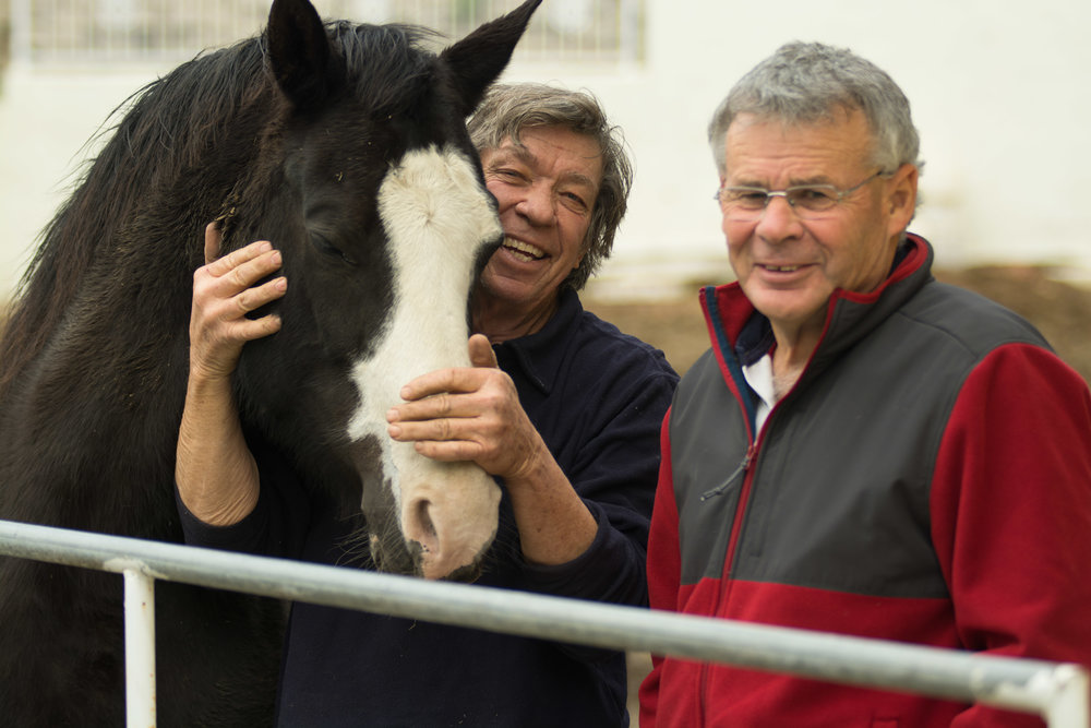 COLIN DANGAARD AND NEIL DAVIES HAVE ONE BIG THING IN COMMON -- A LIFELONG LOVE OF THE HORSE.