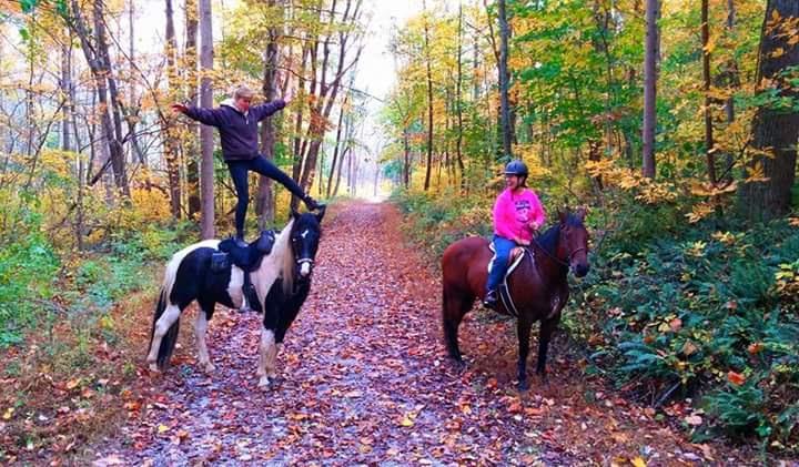 Kristina trick riding !