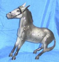 A balking mule !