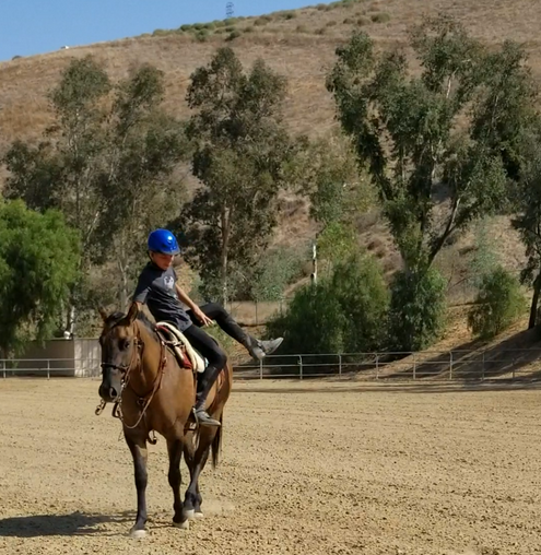 Billy spinning Gunner in the Sequoia Arena in Simi Valley, CA