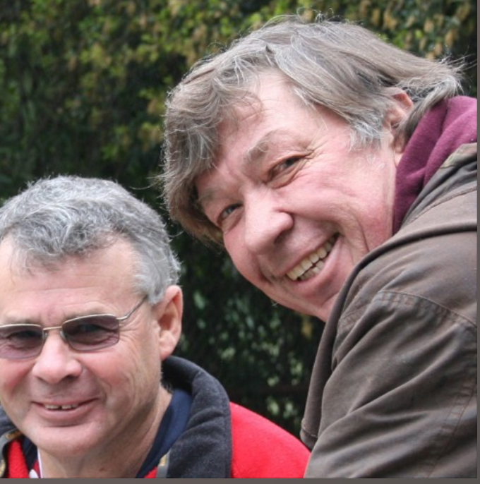 Neil Davies and his friend Colin Dangaard