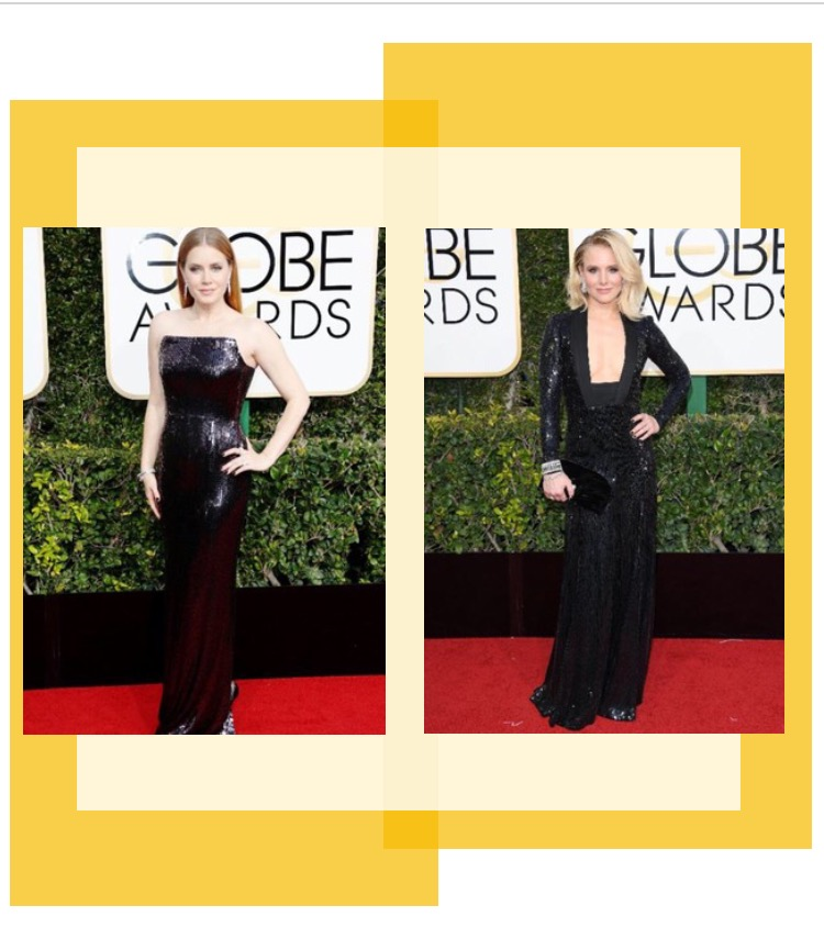 Amy Adams in Tom Ford & Kristen Bell in Jenny Packham