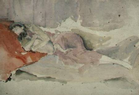 Mother and Child on a Couch, James Abbott McNeill Whistler