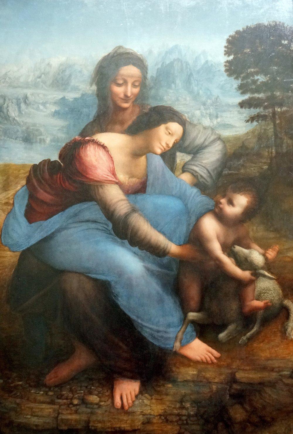 Sant'Anna, la Vergine e il Bambino,  Leonardo Da Vinci