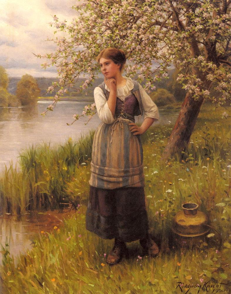 Beneath the Apple Tree, Daniel Ridgeway Knight