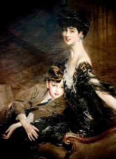 Consuelo, Duchess of Marlborough and Her Son by Giovanni Boldini