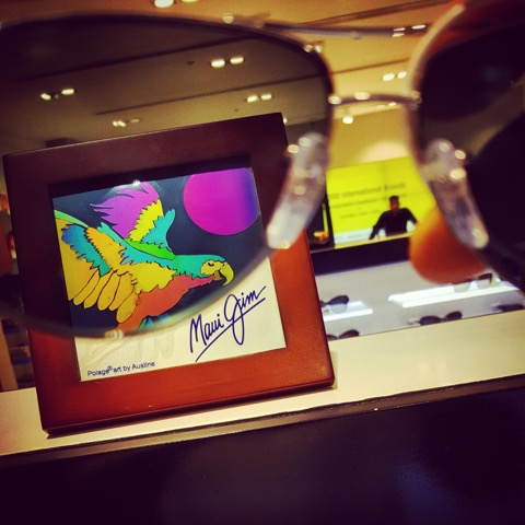 One of the displays you might see where Maui Jim Sunglasses are sold.