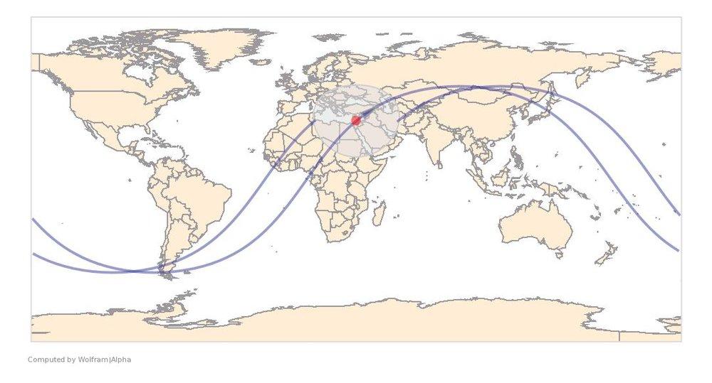 Image Timestamp:2015-08-06 15:38:37 UTC ISS Nadir position:32.41°N, 34.32°E (West Bank) Image Geolocation:32.012°N, 35.189°E
