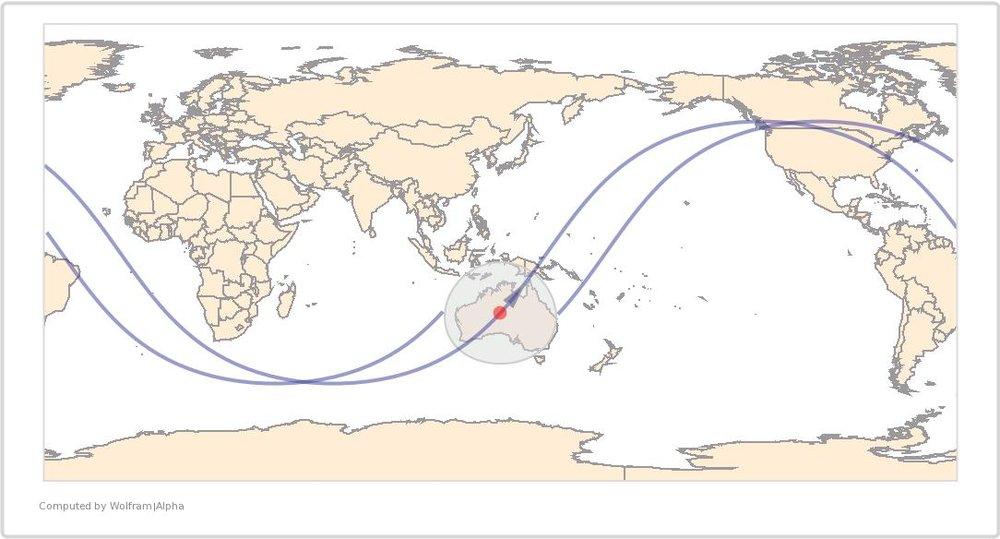Image Timestamp:2015-08-03 07:07:15 UTC ISS Nadir position:23.85°S, 131.2°E (Australia) Image Geolocation:22.859°S, 131.691°E (Australia)