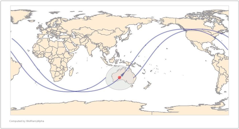 Image Timestamp: 2015-08-03 07:05:35 UTC ISS Nadir Position: 28.53°S, 126.6°E (Australia) Image Geolocation: 26.782°S, 126.074°E (Australia)