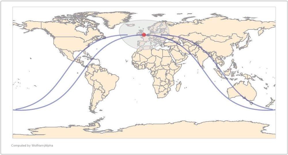 Image Timestamp:2014-07-04 12:09:51PM UTC ISS Nadir position:51.65°N, 0.1032°W (United Kingdom) Image Geolocation:51.50°N, 0.000°W (United Kingdom)