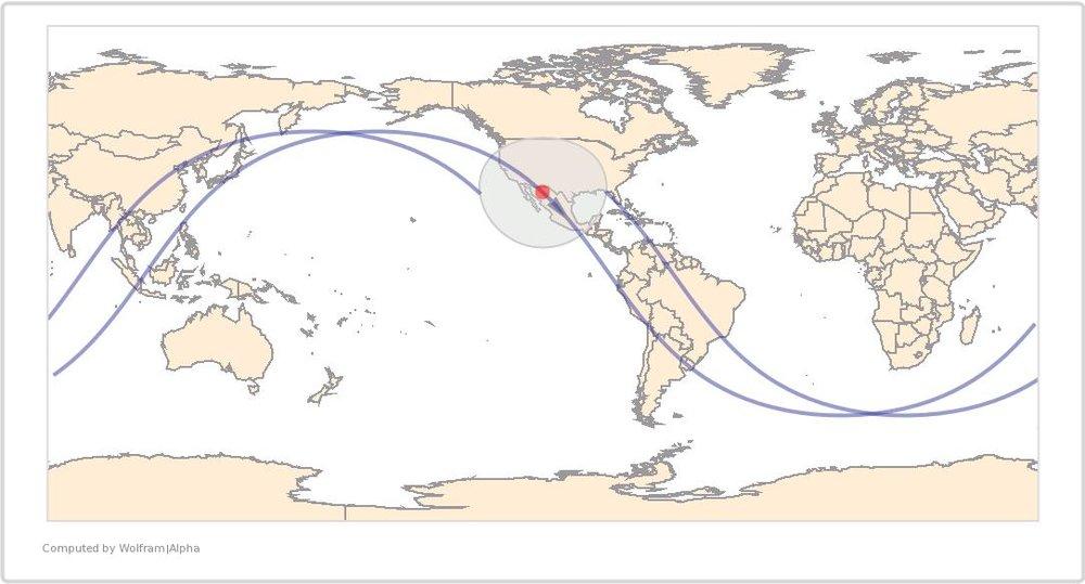 Image Timestamp:2013-01-13 20:15:55 UTC ISS Nadir position:29.4°N, 108.1°W (Mexico) Image Geolocation:32.1° N, 111.0° W (Arizona)