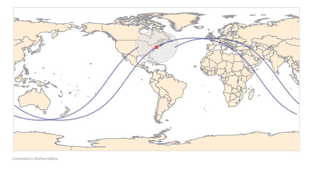 Image Timestamp:2015-04-11 22:00:36 UTC ISS Nadir position:40.13°N, 72.3°W (United States) Image Geolocation:40.7°N, 74.0°W (Manhattan : New York)