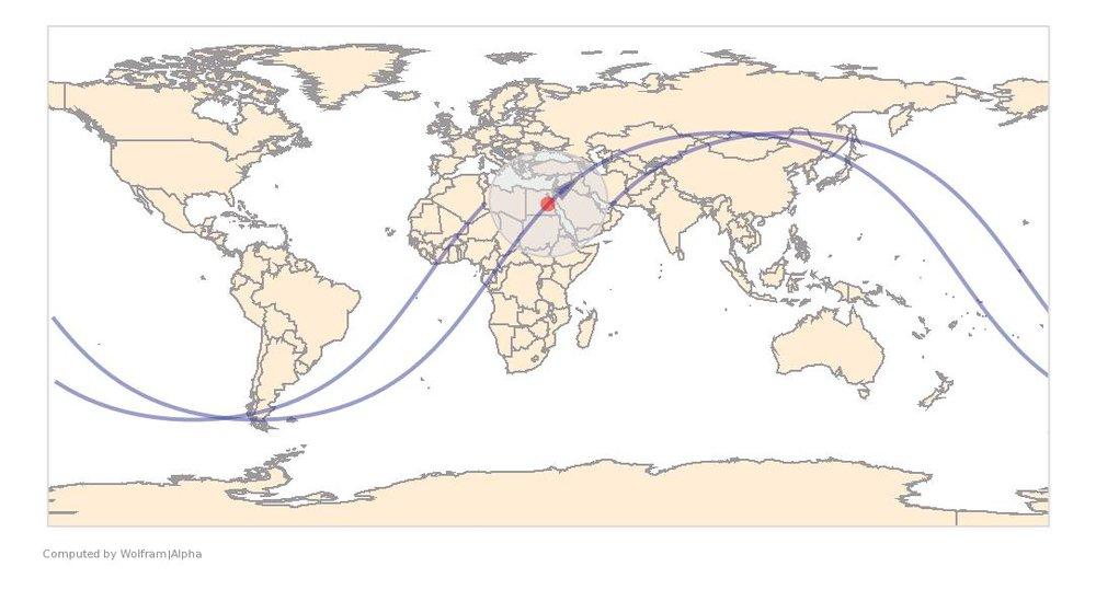 Image Timestamp:2009-04-04 08:13:41 UTC ISS Nadir position:25.98°N, 33.14°E (Egypt) Image Geolocation:26.18°N, 32.76°E (Qena, Egypt)