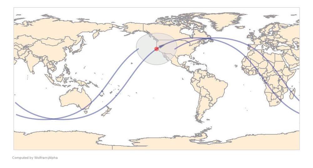 Image Timestamp:2016-06-20 19:31:09 UTC ISS Nadir position:37.58°N, 124°W (Pacific Ocean) Image Geolocation:37.817°N, 122.477°W