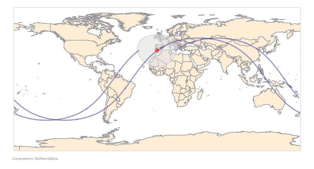 Image Timestamp:2017-04-05 16:47:27 UTC ISS Nadir position:35.83°N, 7.013°W (Morocco) Image Geolocation:37.958°N, 8.878°W (Portugal)