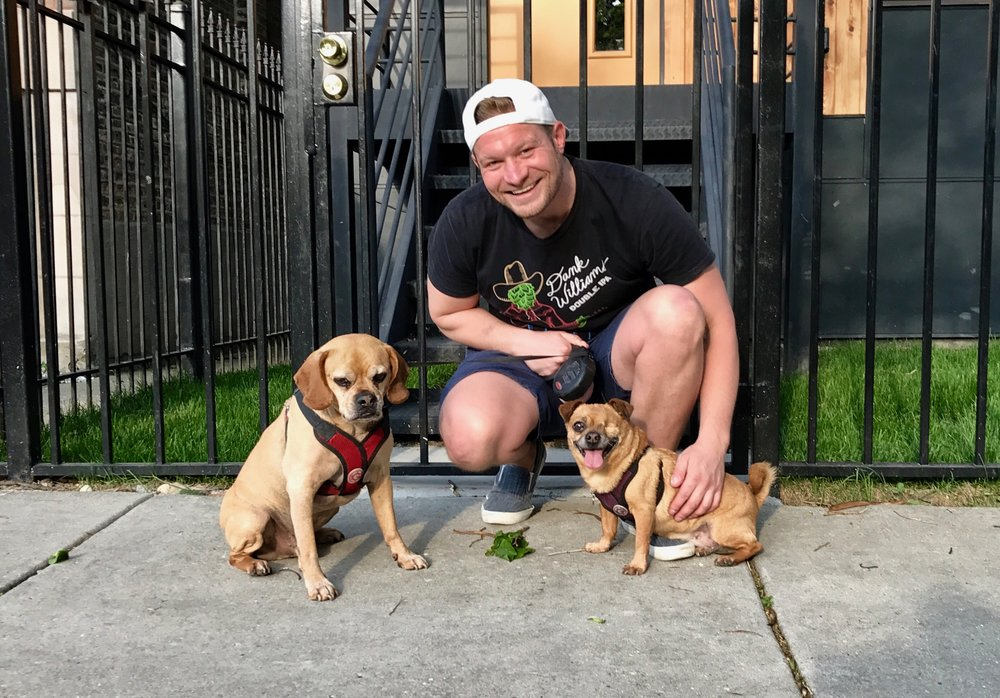 Dan Hoeck - Dog Walker / Pet Sitter - Logan Square   My name is Dan. I reside in the Logan Square area in Chicago and love dogs. There has not been a time in my life when dogs were not an integral part of that. Over the years, friends and family have entrusted me to take care of their pups with walks, sitting, and around the clock care. This passion has now grown into a more professional role. Over the past year, I have gained more formal expertise and experience in walking, sitting, and boarding dogs. With this work I have developed relationships with dog owners,  provided coordinated care for both dog and owner while they are apart and gained extensive knowledge about dog behavior, and their overall needs. As a dog lover, I understand the difficulty in finding someone who will care for your pets and respect your home. To ease your mind while caring for your pup, I offer updates, photos, text and call availability. You can rest assure that I will provide the highest degree of professionalism and heartfelt engagement for your four-legged friends.