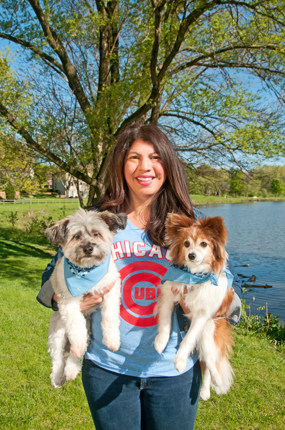 Sarah with Gizmo and Bowie