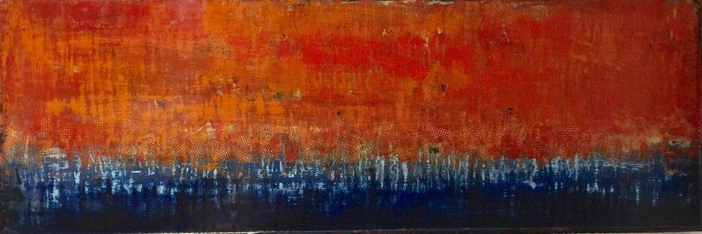 16x48 encaustic on birch panel