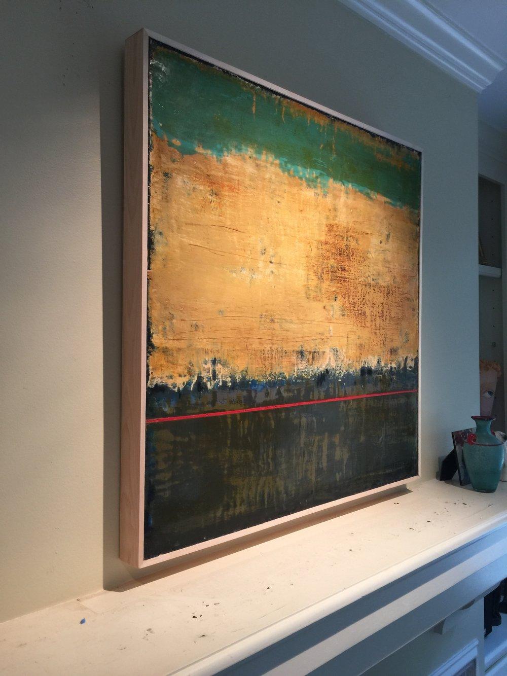 36x36 encaustic on birch panel
