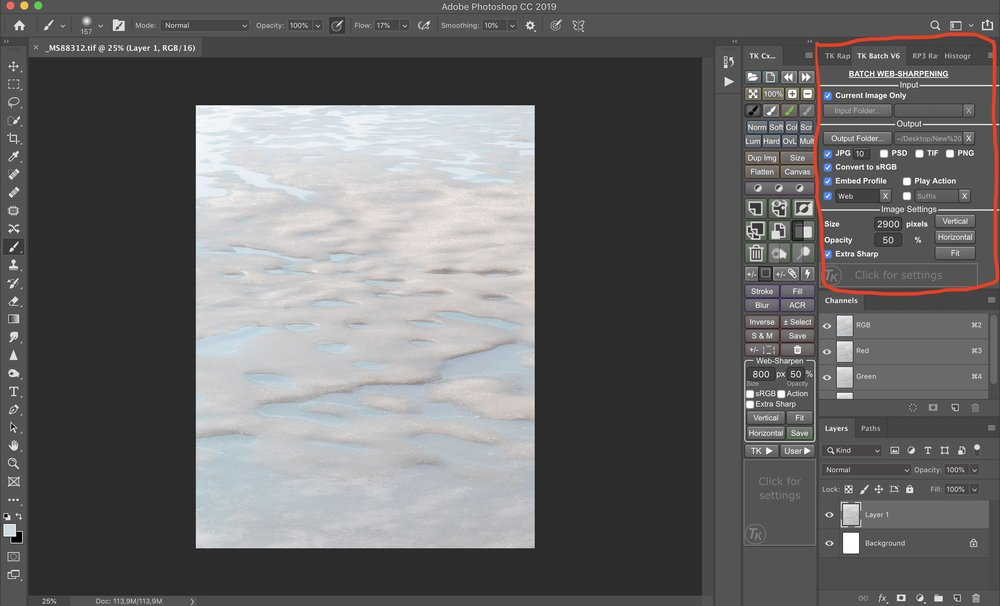 Photoshop med TK Actions