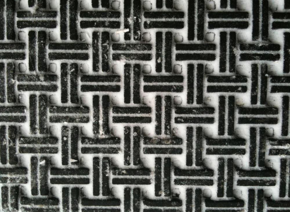 doormat in winter