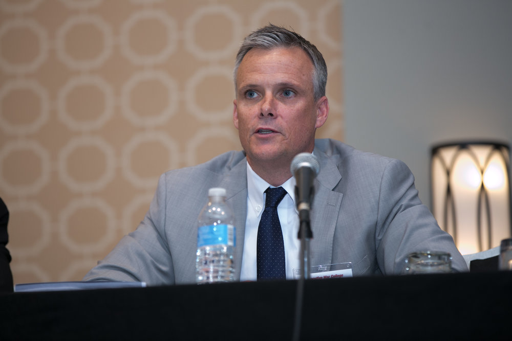 Andrew Stimmler during the Executive War College discussion panel