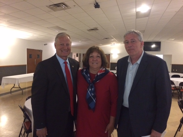 Mark also enjoyed visiting with State Rep Randy Frye and his wife Deb at the Ripley County Lincoln Day Dinner.