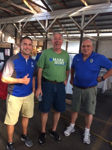 I stopped by the DARE Booth at the Carroll County 4H fair. Rich Ferguson, on my left, is a retired deputy sheriff from Kokomo. He is now a DARE officer in Carroll County. Mike Goodrich, from Northwestern high school, is now the vice principal at Carroll high school. Mike is pictured on my right.