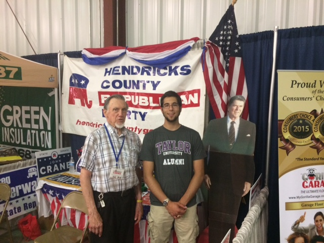 I enjoyed the Hendricks' County 4H fair.  I took a picture of John Willoughby, Joseph Johns, and Ronald Reagan.