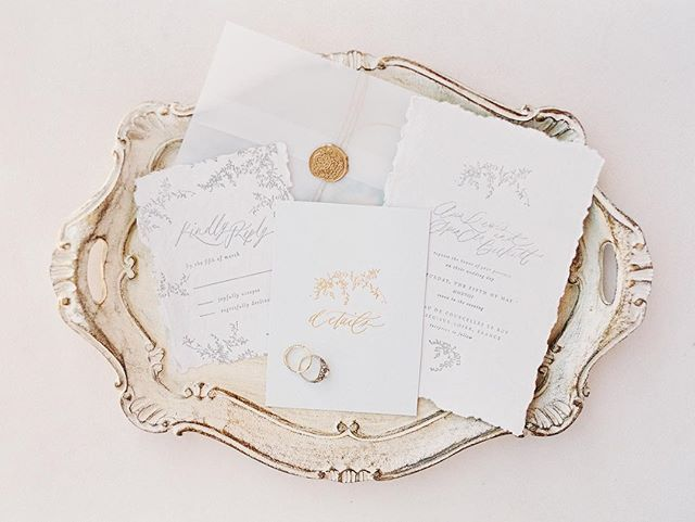 The prettiest paper details by @shastabellcalligraphy ❤️with @trumpetandhorn and @allentsaiphoto at @ranchovalencia