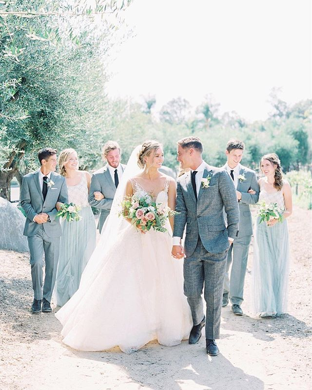 That bridal party glow ✨ From April + Max's wedding at @bernardowinery with @plentyofpetals @danielleryanbeauty @wildthymeco @adorefolklore @socalwedmusic and photo by @jordangalindophoto
