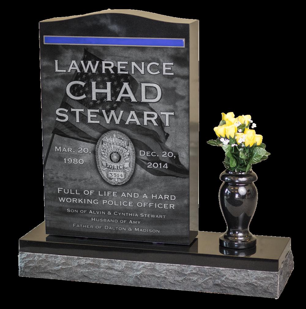 headstone memorial, Fairview Cemetery, Winnie, TX