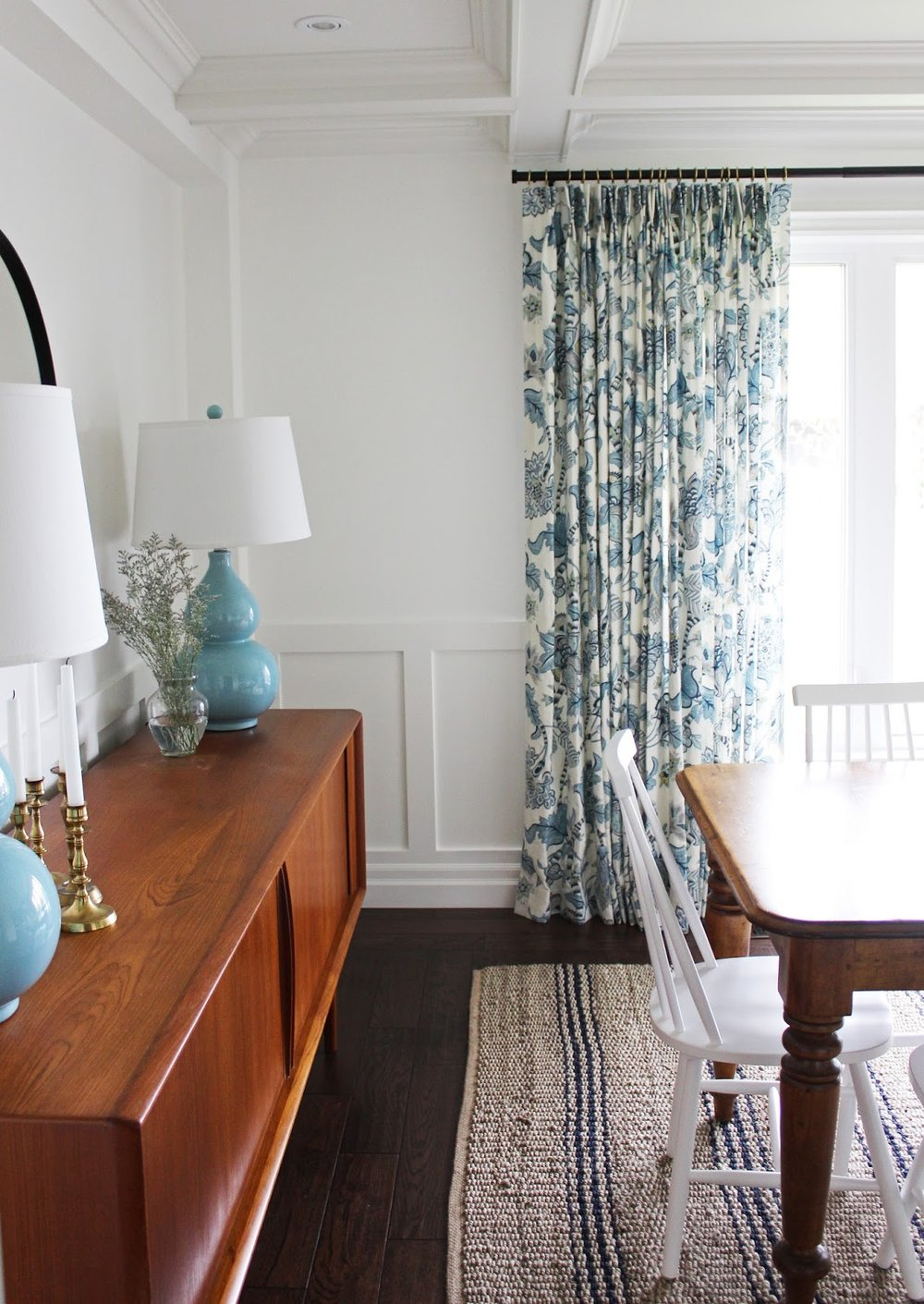This Also Allowed For Us To Do Some Very Bold Drapery On Their Huge Window  Looking Into Their Front Yard. The Drapes Are My Favourite Feature In The  Room!