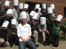Chef Alli with her first class with DC Central Kitchen.