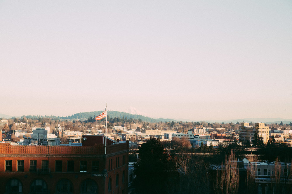 We go to Portland a few times per year, this was our view from the last hotel.