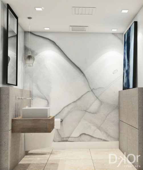 GRAY MARBLE Designer: Dkor Interiors Photo: Alexia Fodere