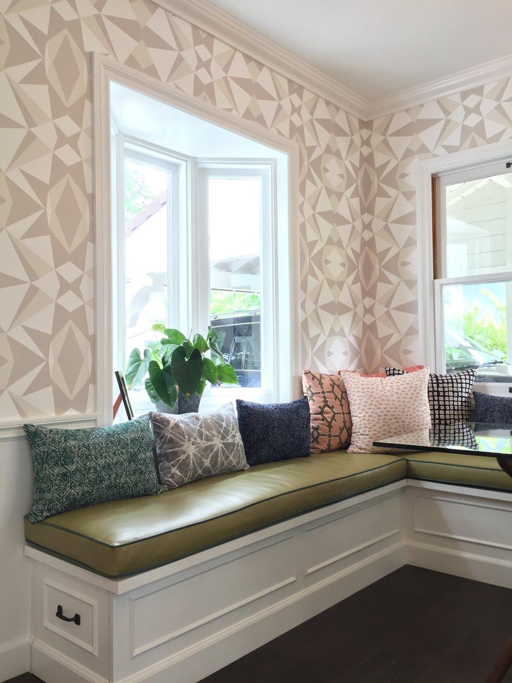 MOSAIC PRINT IN NEUTRAL Designer: Stone Textile