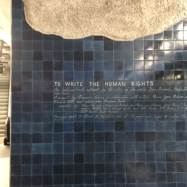 """""""To write human rights..."""" As seen in the Stockholm Subway Series"""