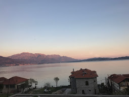 View from the bus upon arriving in Montenegro.