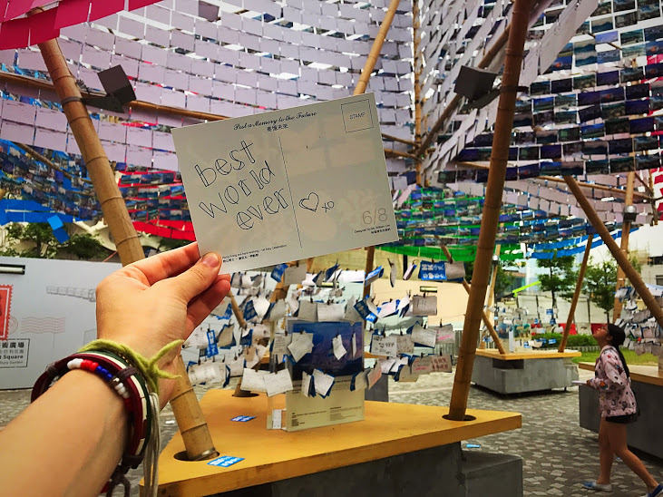 "My favorite kind of public art installation! Taking in the thoughts and words from people all over the world. Expressing vulnerability, cohesiveness and connection. Similar to Yoko Ono's Wishing Trees that I've seen in Rome and Copenhagen, this exhibit, ""Bear in Mind"" strings postcards together. I love reading and seeing different languages, some words, some drawings and feeling where that person was at at the time that they wrote it. There is something beautiful about anonymity and camaraderie as you can relate to someone through their words."
