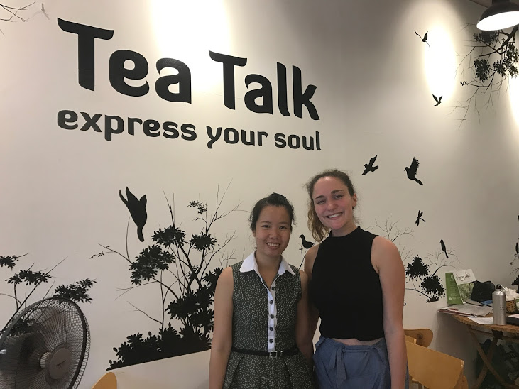 Nguyen, Co-Founder of Tea Talk, and I!