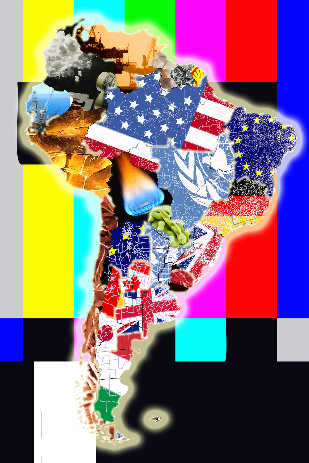 "America (Mercator Projection), 2017, archival inkjet print on matte paper (1/5), 25"" x 17,"""