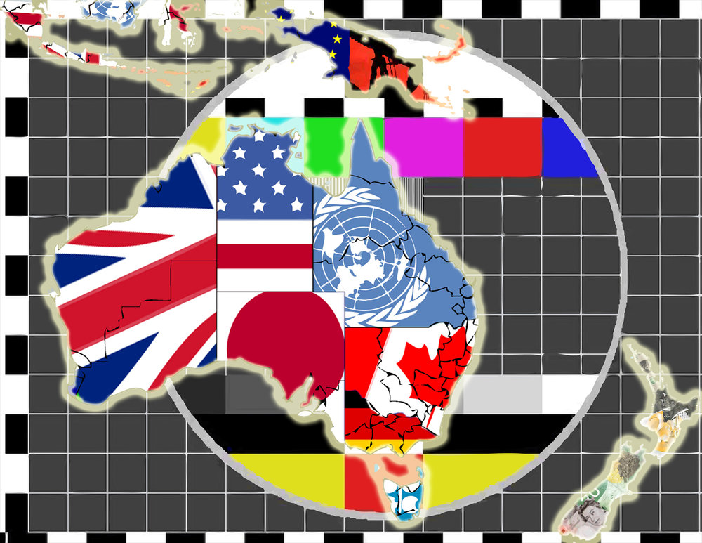 Oceania (Mercator Projection), 2017, digital collage, size variable