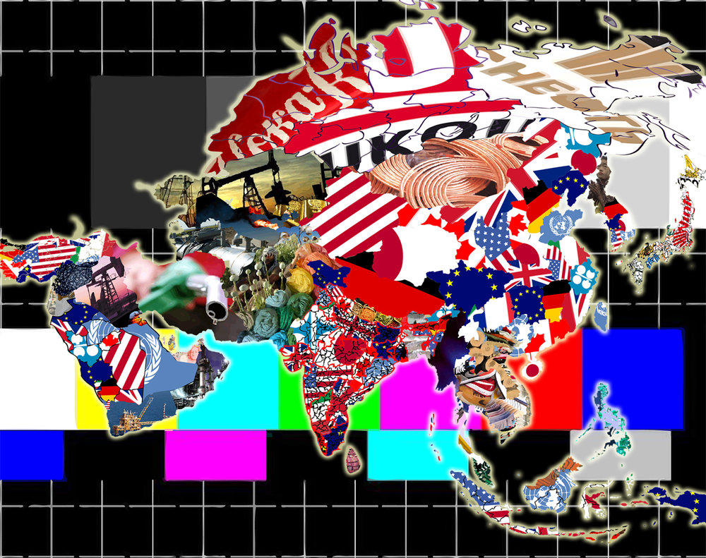 Eurasia (Mercator Projection), 2017, digital collage, size variable
