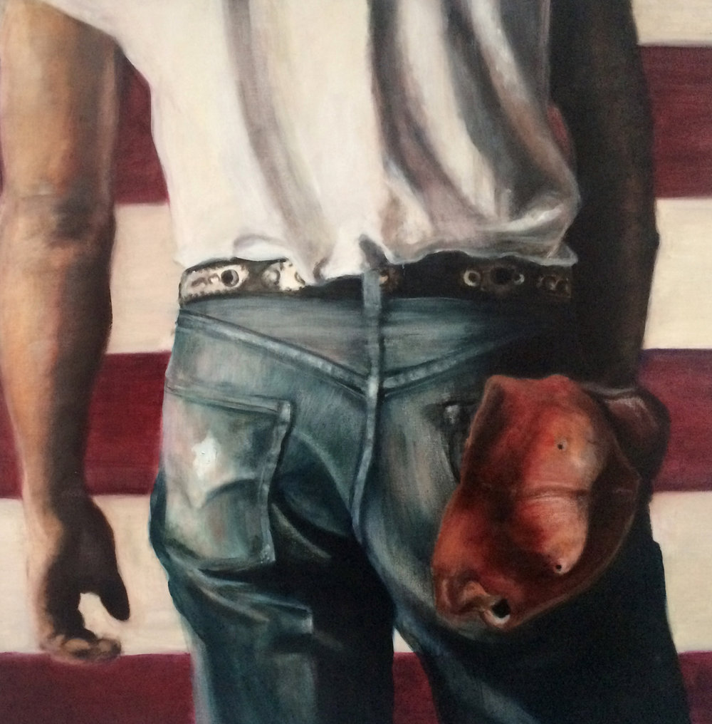 "Born in the USA, 2015, oil on canvas, 41"" x 41"""