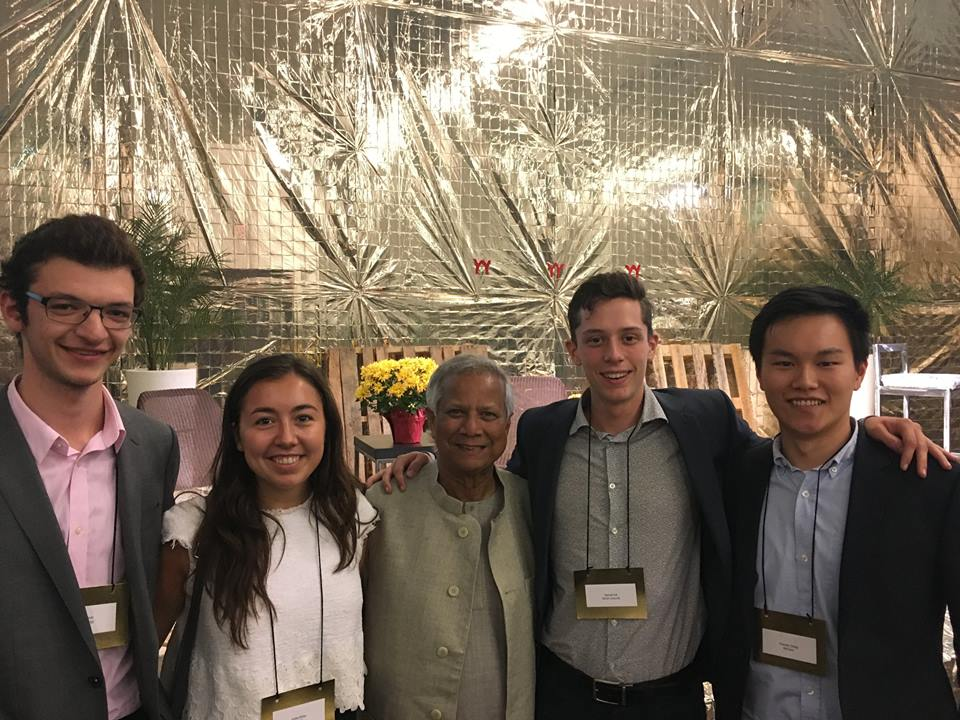 Mentorship Meeting with our Advisor, Nobel Peace Prize Laureate, Muhammad Yunus